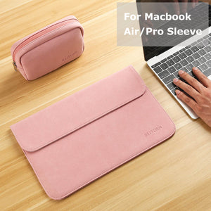New Matte Laptop Bag for Macbook Air 13 12 Pro 13 Case Sleeve Women Men Waterproof Bag for Mac book Touchbar 13 15 Case Cover - leathernbags