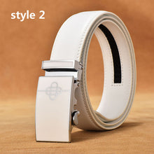 DESTINY Belt Men Luxury Famous Brand Designer High Quality Male Genuine Leather Strap White Automatic Buckle Belt Ceinture Homme - leathernbags