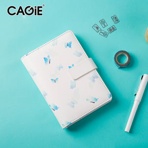 CAGIE Cute Creative Notebooks and Journals Female Kawaii Daily Planner Organizer Filofax A6 Personal Diary Hasp Sketchbook - leathernbags