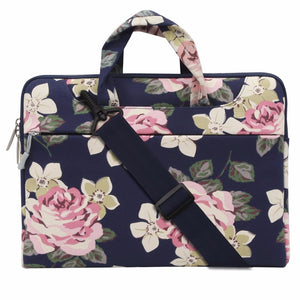 Mosiso Floral Women Strap Shoulder bag for Macbook Pro Air Lenovo Acer DELL 11.6 13.3 14 15.6 Notebook carry case Briefcase - leathernbags