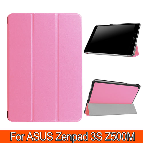 3 Folding PU Leather Book Cover Flatbed Shell Fundas Case For For Asus ZenPad 3S 10 Z500M 9.7