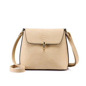 crossbody bags for women small shoulder bag female solid hasp handbag purse Black/Apricot/Blue messenger bag - leathernbags