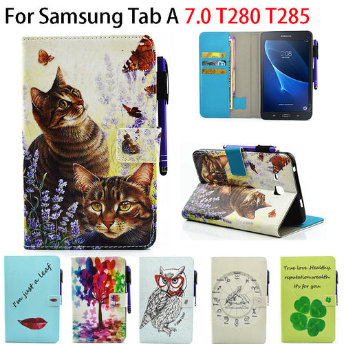 Tab a6 7.0 Case For Samsung Galaxy Tab A 7.0 T280 T285 Cover Funda Fashion children cartoon animal Tablet Silicon Leather Case
