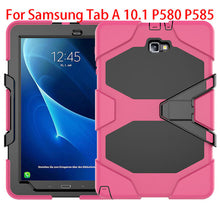 Armor Kickstand Case Funda For Samsung Galaxy Tab A A6 10.1 P580 P585 Case Cover Tablet Shockproof Heavy Duty Stand Hang Shell - leathernbags