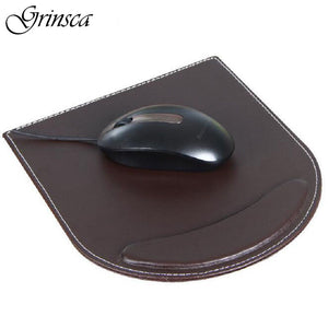Hot High Quality PU Leather Mouse Fashion Laptop Wrist Rest Pad Business Computer PC Wrist Support Mat Big Mice Mat Oc28 - leathernbags
