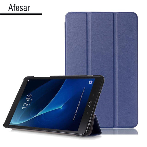 SM-T580 Tab A6 10.1 2016 Slim Smart Case Cover- For Samsung Galaxy Tab A 10.1 T585 T587 tablet book flip cover case magnet stand - leathernbags