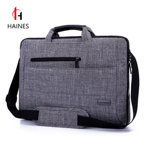 HAINES Brand 2017 New 14.6 15.6 Inch Notebook Computer Laptop Sleeve Bag Men Women Cover Case Briefcase Shoulder Messenger Bag - leathernbags