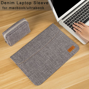 "13 15 inch Laptop Sleeve Bag for Macbook touchbar 13 air/pro Laptop Case Cover 14 15.6 inch for Asus/Lenovo/Dell/HP/Acer 13.3"" - leathernbags"
