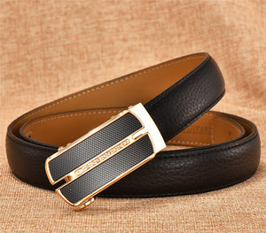 90-120cm Women Belts Waistband Automatic Buckle Belt For Women Durable Genuine Leather Belt Straps High Quality Ceinture Black - leathernbags