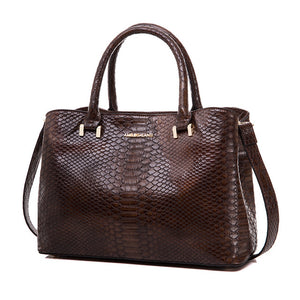 AMELIE GALANTI Autumn And Winter Handbag Woman Hard Serpentine Medium Size Advanced Fabrics PU Versatile Fashion High-Grade - leathernbags