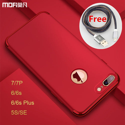 For iphone 7 plus case luxury protection MOFi for iphone 6s plus case Red for iphone 5s SE cover for iphone 7 case 6s capa coque