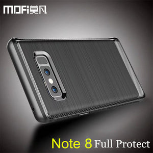 case for samsung note 8 cover galaxy note8 back silicone phone cases luxury black MOFi original for samsung galaxy note 8 case - leathernbags