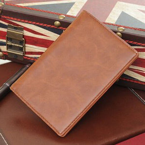 KUDIAN Minimalist Passport Cover Waterproof Men Card Holder Travel Passport Holder Casual Leather Card Wallet -- BID021 PM49 - leathernbags