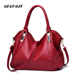 GZ-LY-GJT 4 Color Fashion Designer Women Handbag Female PU Leather Bag Office Ladies Portable Shoulder Bag Ladies Hobos BagTotes - leathernbags
