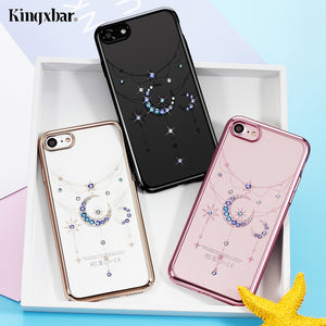 KINGXBAR for Case iPhone 7 Case Authorised Swarovski Elements Diamond Hard Phone Cover Case for Apple iPhone 7 Shells Capas