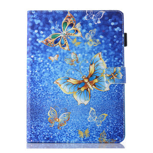 Fashion Print Case For Apple iPad air 1 2 case For iPad 5 6 Smart Case Cover Funda Tablet PU Leather Stand Shell+Film+Pen - leathernbags