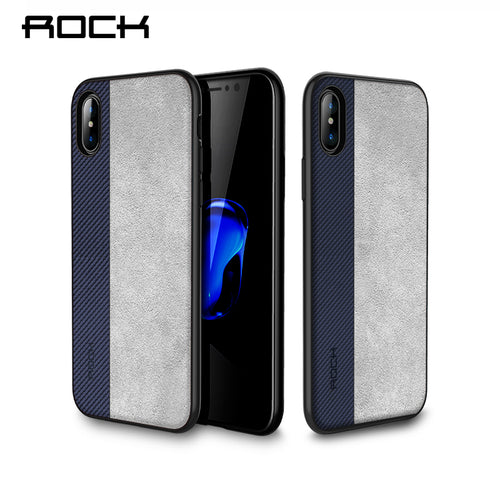 Rock Slim Case for iPhone X Cover PU Leather Phone Bag Case For iPhone X Coque Full Protective Phone Shell Back Capa - leathernbags