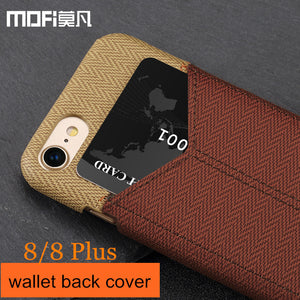 case for iPhone8 iPhone 8 case cover wallet card slot back leather capas for iPhone 8 plus cover MOFi for apple 8 iphone8 case - leathernbags