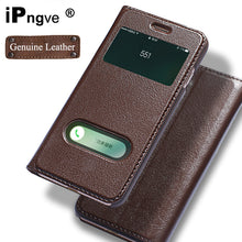 ipngve Genuine Leather Case Flip Cover Case For iPhone 7 Window View Phone With Magnetic Buckle Coque Fundas For iPhone 7 Plus |  USA I USA - leathernbags