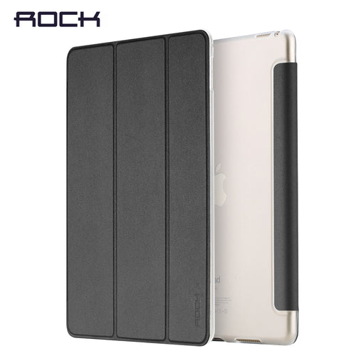 Rock For iPad 2017 9.7 Pro 10.5 inch Leather Case Ultra Thin Flip Cover Case For iPad 2017 9.7 Coque Fundas - leathernbags