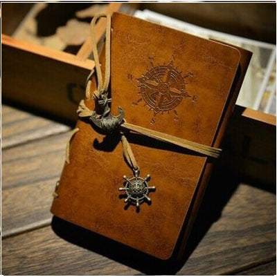 Hot Vintage notebook Kraft paper A6 80 sheets Waterproof Leather Diary Sketch book office school supplies notebooks and journals - leathernbags