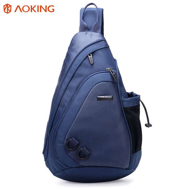 Aoking  New Fashion Water Shape Chest Bag Large Capacity Men Sling bag Waterproof Travel Daily Crossbody Bag Shoulder Bag - leathernbags