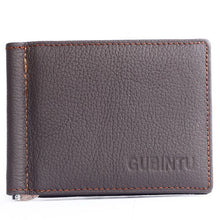 100% Genuine Leather Men Wallet Cowhide Male Money Clip Luxury Famous Brand Coins Pocket Purse -- BID066 PR49 - leathernbags