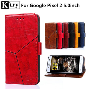 K'try for Google Pixel 2 Case Cover Luxury Pu leather with TPU Cover for Google Pixel 2 Case Full Protective Shell - leathernbags