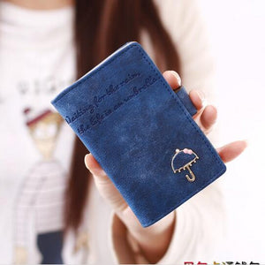 20 Card Holder Small Short Umbrella Women Ladies Leather Business Credit ID Card Holders Carteira Feminina Portefeuille Femme 40 - leathernbags