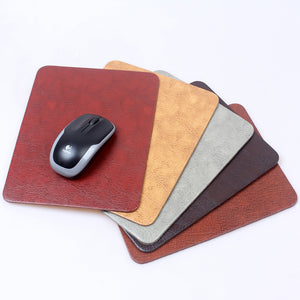 19*24cm Waterproof leather mouse pad M Classic retro Computer office PC loptop notbook table mat small gaming mousepad washable - leathernbags