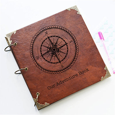 Personalized Leather Photo Album Our Adventure Book Wedding Guestbook Anniversary Gift - leathernbags