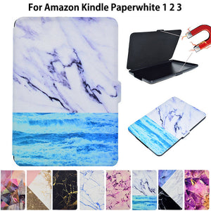 Marble Pattern Cover Case for Amazon Kindle Paperwhite 1 2 3  6th Case for Kindle Paperwhite 6 inch Funda Tablet Sleep&Wake