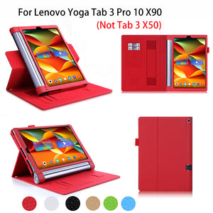 Luxury PU Leather YOGA Tab 3 plus Case For Lenovo Yoga Tab 3 Pro 10 X90 YT3-X90F/X90L Smart Case Cover Tablet Hand Holder Funda