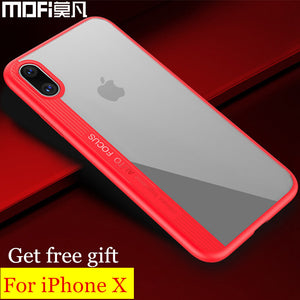 for iphonex iphone X case cover MOFi original soft silicone edge for iphone X Edition cover black for apple x iphoneX case
