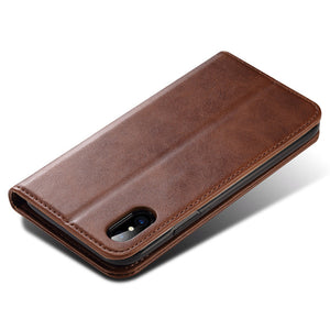 Genuine Leather Card Case for IPhone X 8 7 Plus 6S Plus Wallet Credit Card Slot Back Cover for Apple IPhone X Phone Cases - leathernbags