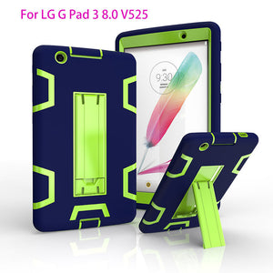 Cool Armor Case For LG G Pad 3 iii 8.0 V525 V521 V520 Gpad3 GPAD X 8.0 Cover Tablet Case Robot Heavy Duty With Stand Case Funda