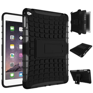 For iPad mini 4 Case 7.9 inch High Quality Hybrid Kickstand Armor Hard PC+TPU 2 In 1 Cover with Stand Function For ipad mini 4 - leathernbags