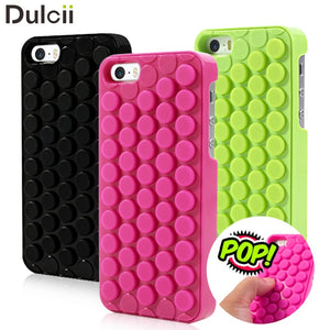 DULCII for iPhone 6 6s Plus 7 8 Phone Case Coque Novelty Pop Sound Bubble Wrap Back Cover for Apple 5 5s SE Shells Bag