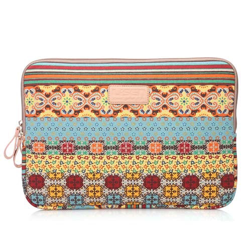 Bohemian Design 11 12 13 14 15.6 inch Cavas Laptop Bag Notebook PC Sleeve Case Pouch for woman for hp macbook sony 11.6