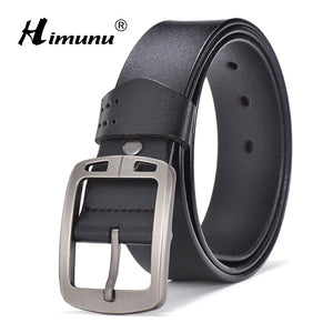 [HIMUNU]  Genuine Leather Male Strap Designer Belts Men High Quality Cowskin Belt Men Luxury brand Man Accessories - leathernbags