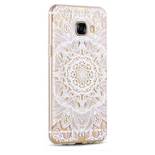 For Samsung Galaxy C7 Case Vpower Luxury 3D Relief Soft Silicone TPU Transparent Case For Samsung Galaxy C7 Phone Back Covers - leathernbags