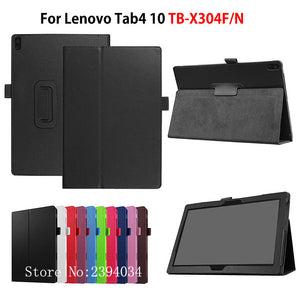 "Case For Lenovo TAB4 Tab 4 10 TB-X304L TB-X304F TB-X304N 10.1"" Smart Cover Funda Tablet Stand PU Leather Protective Skin Shell"