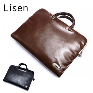"Lisen Leather Handbag Bag For Laptop 11"",13"",15"",15.6 inch,Case For MacBook Air,Pro 13.3"",15.4"""