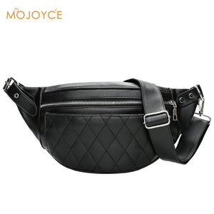 PU Leather Men Waist Pack Fanny Pack Bum Belt Bag High Quality Zipper Waist Bag Solid Chest Bag for Men Men Pouch Pochetes Bolso |  USA I USA - leathernbags
