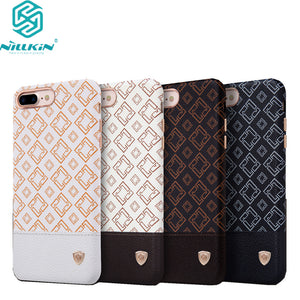 "Nillkin Oger PU Leather back Cover Case Vintage leather PC case For Apple iphone 7 plus case 5.5"" work with magnetic car holder"