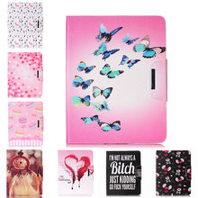 Painted Flip PU Leather Case For Apple iPad 4/3/2 9.7 inch Back Covers Flowers smart Card Slots wallet tablet Shell Capa Housing |  USA I USA