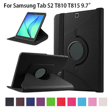 "360 Degree Rotate Case For Samsung Galaxy Tab S2 9.7"" SM-T810 T815 Cover Tablet Funda Flip PU Leather Wake Sleep Stand Skin Case - leathernbags"