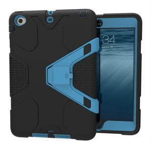 For iPad Air 2 Case,Heavy Duty Shockproof 2-Layer Full Body Protective Case Cover with Kickstand - leathernbags
