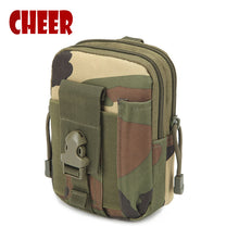 Fashion Waist bag Small square phone bag waist retro Camouflage Oxford cloth Casual waist bag high quality travel bags wallet - leathernbags