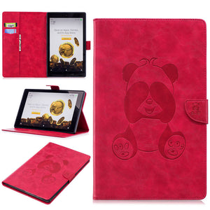 "Panda Case For Amazon Kindle All-New Fire HD 10 Tablet with Alexa 10.1"" Smart Cover PU Folding Stand Skin Shell"